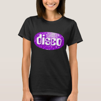 Disco Tiles Purple 'disco' t-shirt black