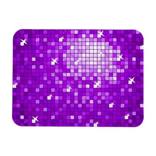 Disco Tiles Purple premium magnet Vinyl Magnet
