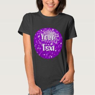 Disco Tiles Purple Your Text t-shirt black