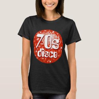Disco Tiles Red '70s Disco' ladies black T-Shirt