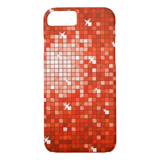 Disco Tiles Red iPhone 7 case