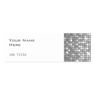 """Disco Tiles """"Silver"""" side skinny white Double-Sided Mini Business Cards (Pack Of 20)"""