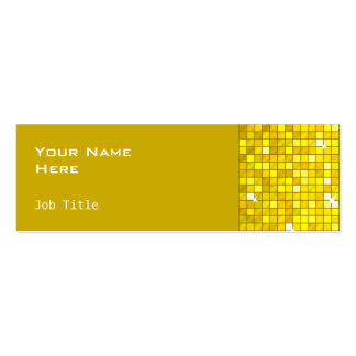 Disco Tiles Yellow business card side skinny