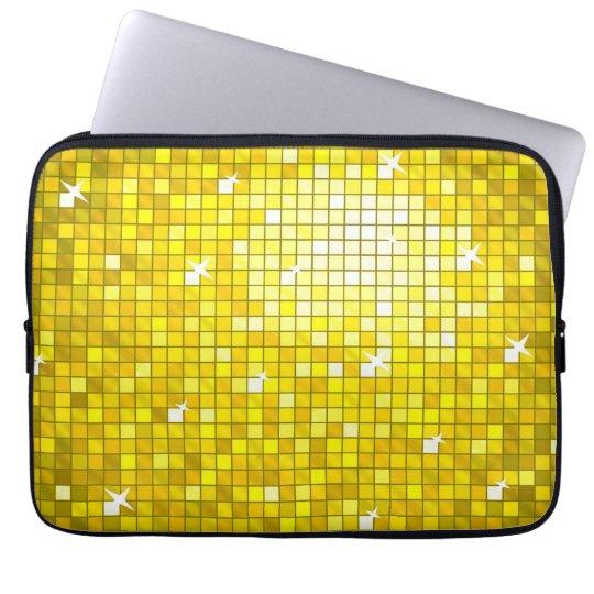 Disco Tiles Yellow laptop sleeve 13 inch
