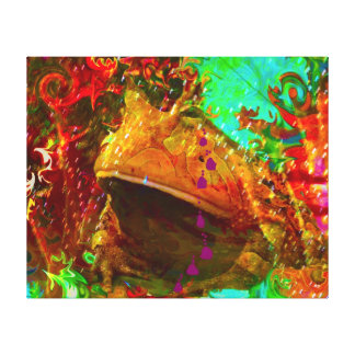 Disco Toad Wrapped Canvas by deprise brescia