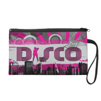 Disco Town Dance Wristlet Purse