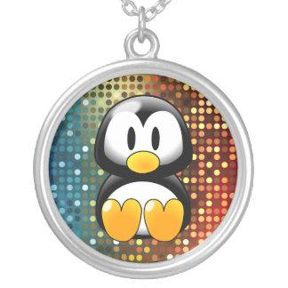 Disco Tux Round Pendant Necklace