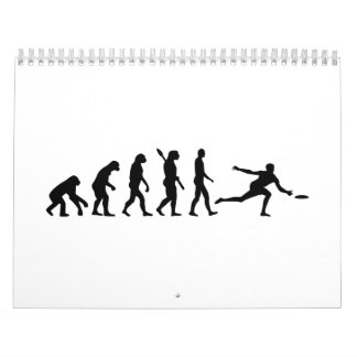 Disco volador de la evolución calendario