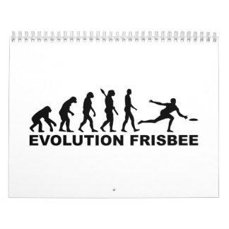 Disco volador de la evolución calendarios