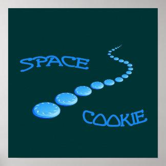 Disco volador de la galleta del espacio posters