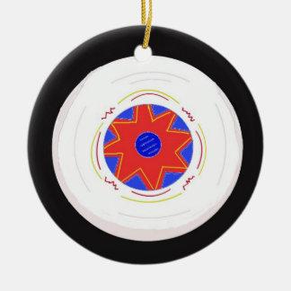 Disco volador fresco adorno redondo de cerámica