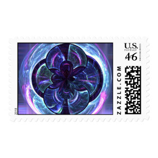Disco Warp Abstract Postage