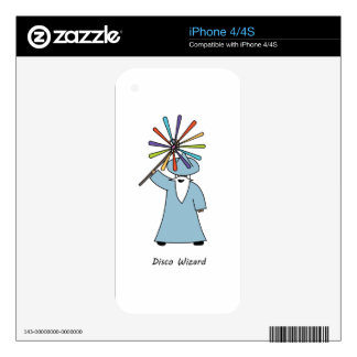 Disco Wizard t-shirt. Skin For iPhone 4S