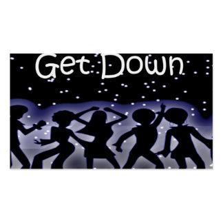 Disco y baile de la boogie tarjetas de visita