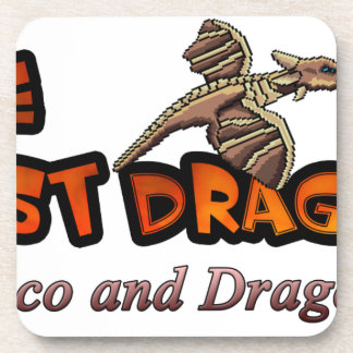 disco y dragones posavasos de bebida