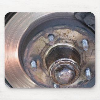 Disco y pernos parciales del freno de vehículo tapete de raton