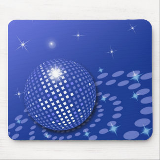 Discoball blue mouse pad