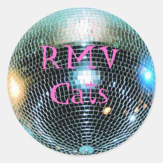 discoball, RMV Cats Classic Round Sticker