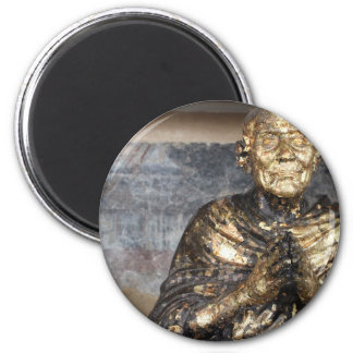 Discolored and Gold Statue of Buddha Magnet