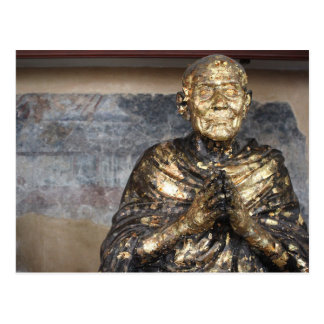 Discolored and Gold Statue of Buddha Postcard