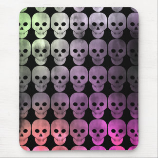 Discolored and grungy punk skulls version 2 mouse pad