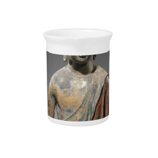 Discolored Buddha Sculpture - Tang dynasty (618) Beverage Pitcher