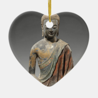 Discolored Buddha Sculpture - Tang dynasty (618) Ceramic Ornament