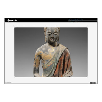 Discolored Buddha Sculpture - Tang dynasty (618) Decals For Laptops