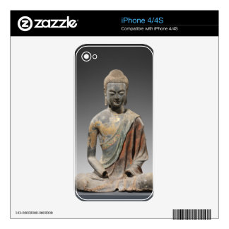 Discolored Buddha Sculpture - Tang dynasty (618) Decals For The iPhone 4
