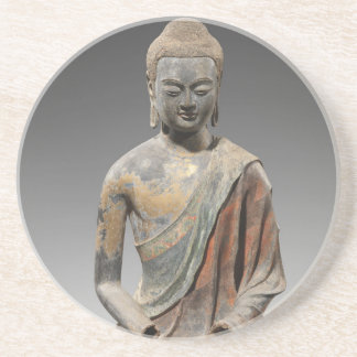 Discolored Buddha Sculpture - Tang dynasty (618) Drink Coaster