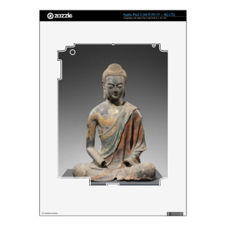 Discolored Buddha Sculpture - Tang dynasty (618) iPad 3 Decal