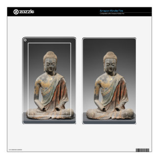 Discolored Buddha Sculpture - Tang dynasty (618) Skin For Kindle Fire
