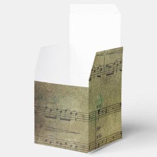 Discolored Sheet Music Favor Box
