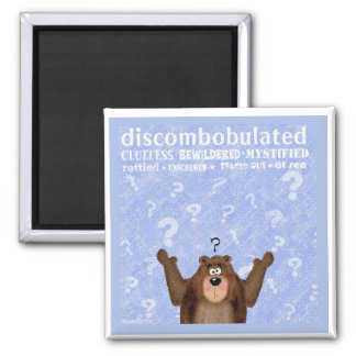 Discombobulated 2 Inch Square Magnet