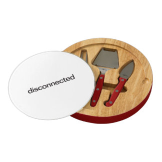 disconnected round cheese board