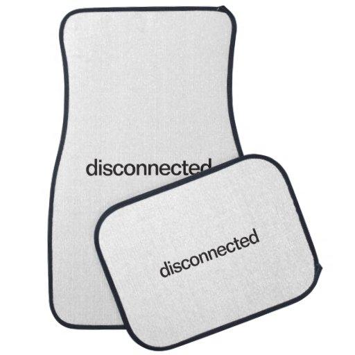 disconnected floor mat