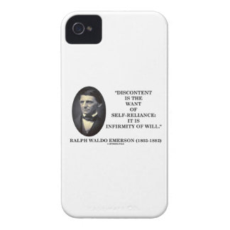 Discontent Is The Want Of Self-Reliance Emerson Case-Mate iPhone 4 Case