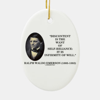 Discontent Is The Want Of Self-Reliance Emerson Christmas Tree Ornaments