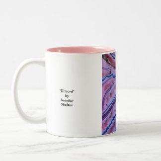 """Discord"" by Jennifer Shelton Two-Tone Coffee Mug"