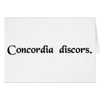 Discordant harmony card