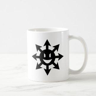 Discordia smiling chaos star classic white coffee mug