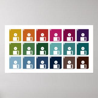 Discos blandos coloridos póster
