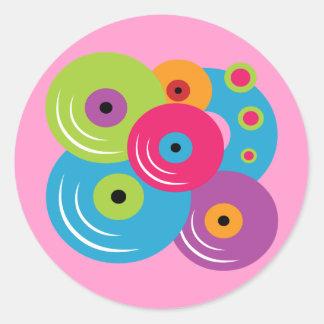 Discos de vinilo etiqueta