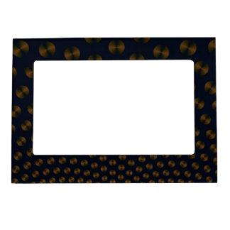 Discos del oro en el marco magnético azul 5x7 marcos magneticos para fotos