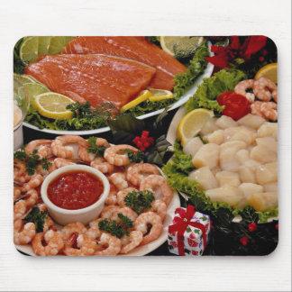 Discos diseñados deliciosos de pescados con el poi alfombrilla de raton
