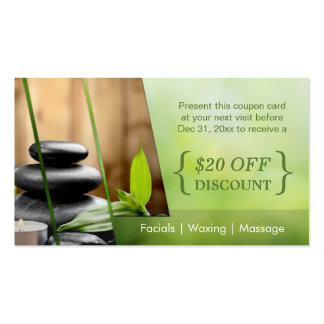 Discount Coupon Card SPA Still Life Massage Salon Business Card