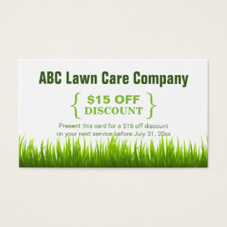 Lawn mowing business cards templates zazzle for Cheap garden maintenance
