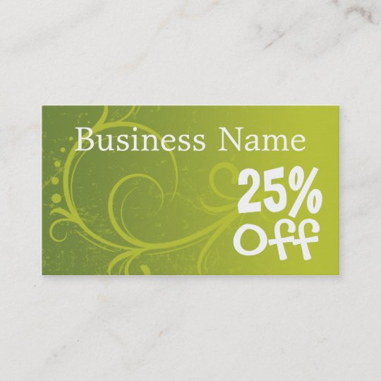 discount coupon retail template business cards - Discount Business Cards