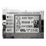 Discount Liquor & Gasoline, 1939 Post Card