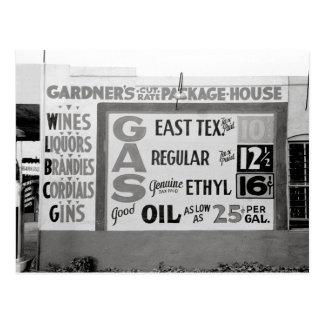 Discount Liquor & Gasoline, 1939 Postcard
